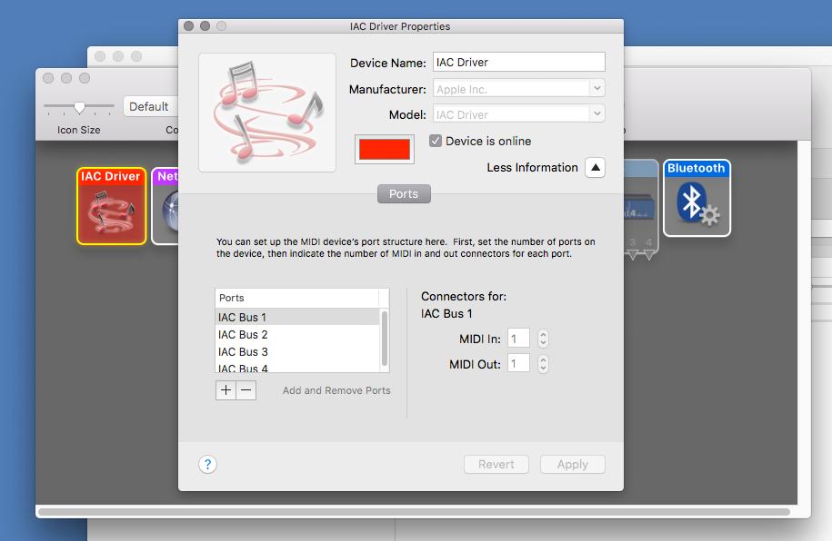 Virtual MIDI Ports   Dialog Audio